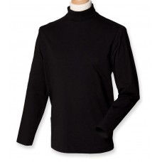 Cotton Long Sleeve Roll Neck Top