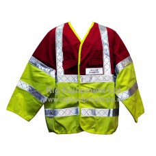 Rig Fire & Rescue Sector Command Hi Vis Sleeved Tabard